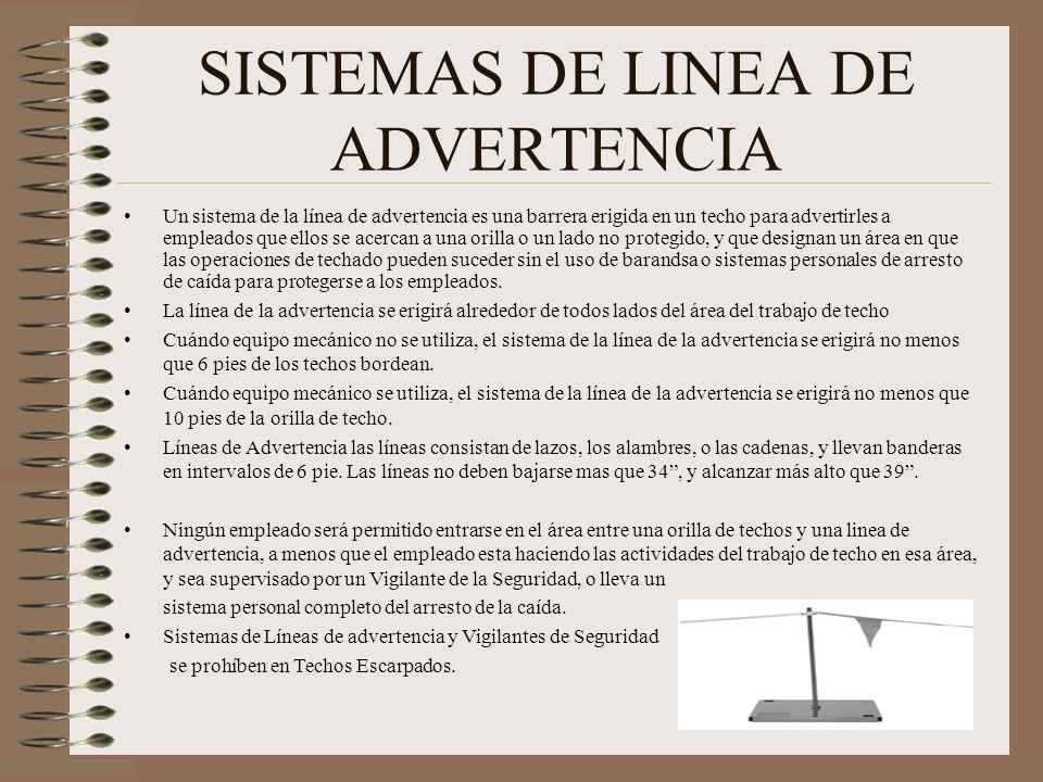 SISTEMAS DE LINEA DE ADVERTENCIA