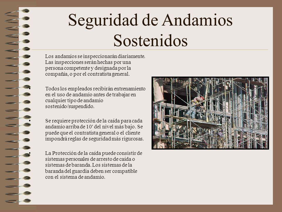 Seguridad de Andamios Sostenidos