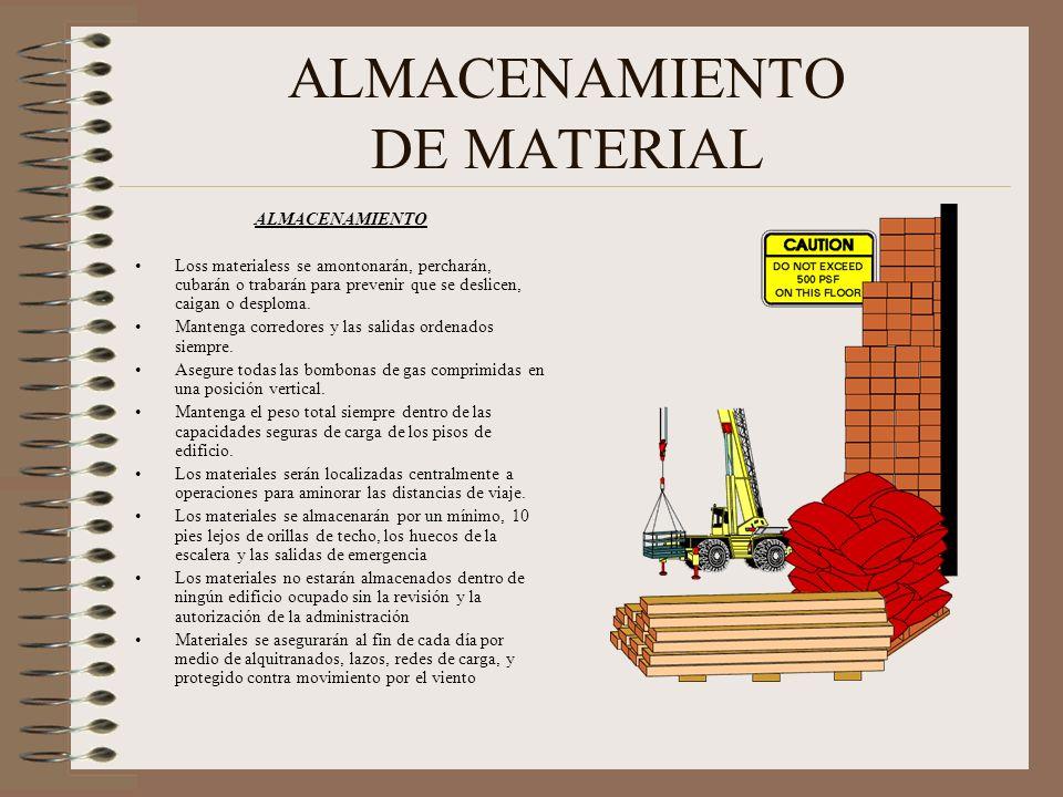 ALMACENAMIENTO DE MATERIAL