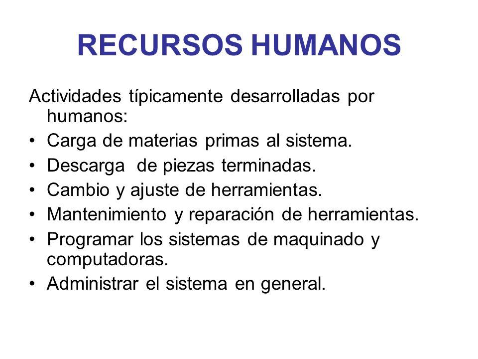RECURSOS HUMANOS Actividades típicamente desarrolladas por humanos: