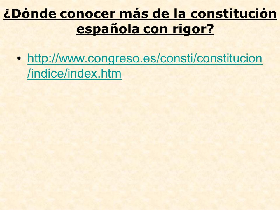 ¿Dónde conocer más de la constitución española con rigor