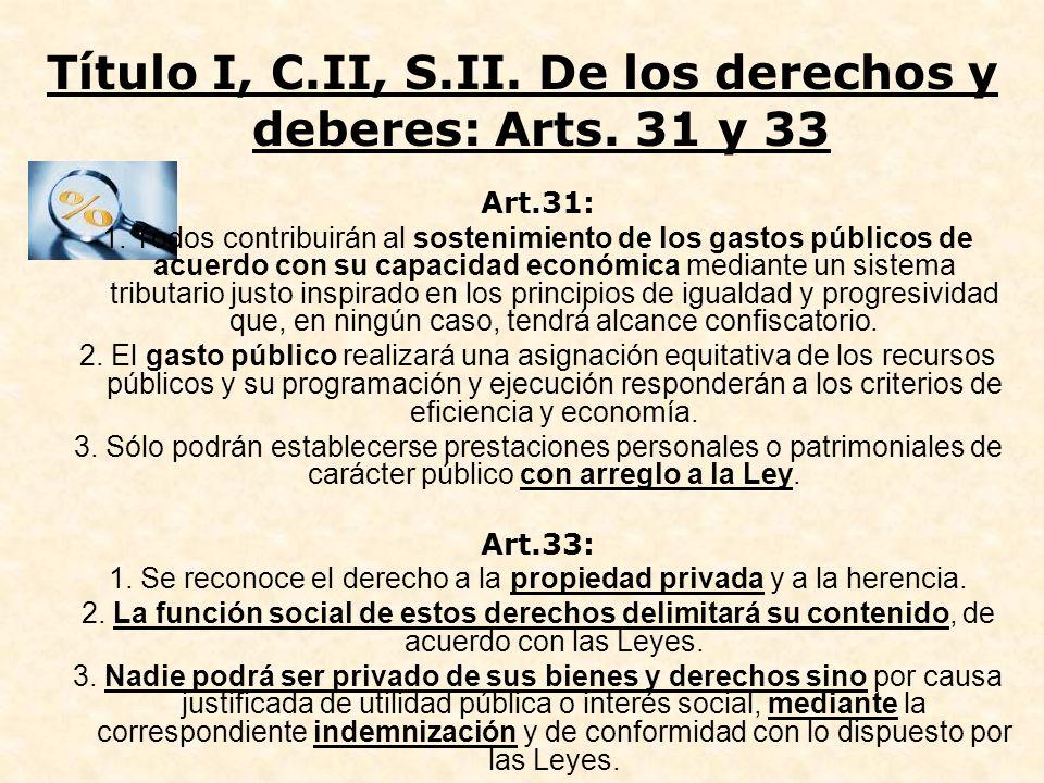 Título I, C.II, S.II. De los derechos y deberes: Arts. 31 y 33