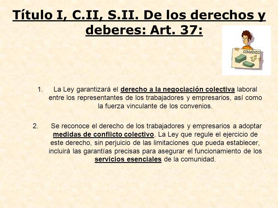 Título I, C.II, S.II. De los derechos y deberes: Art. 37: