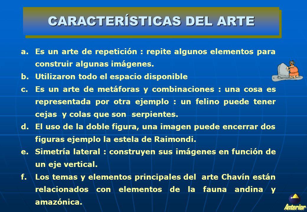 CARACTERÍSTICAS DEL ARTE