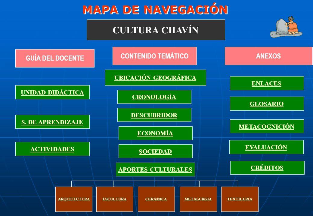 MAPA DE NAVEGACIÓN CULTURA CHAVÍN CONTENIDO TEMÁTICO ANEXOS