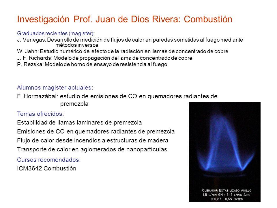 Investigación Prof. Juan de Dios Rivera: Combustión