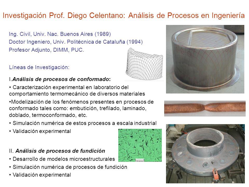 Investigación Prof. Diego Celentano: Análisis de Procesos en Ingeniería