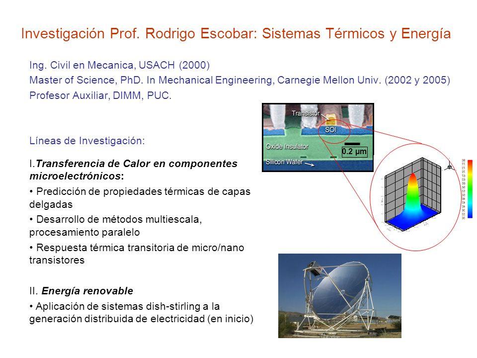 Investigación Prof. Rodrigo Escobar: Sistemas Térmicos y Energía