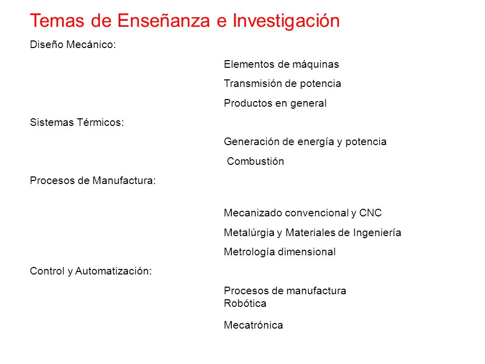 Temas de Enseñanza e Investigación