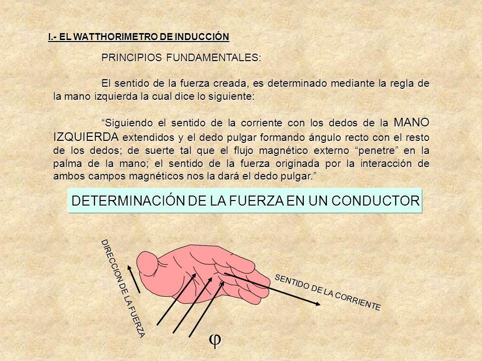 DETERMINACIÓN DE LA FUERZA EN UN CONDUCTOR