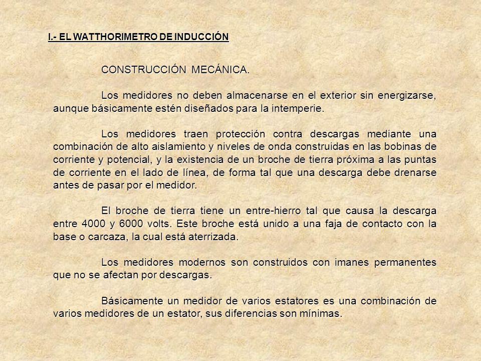 I.- EL WATTHORIMETRO DE INDUCCIÓN