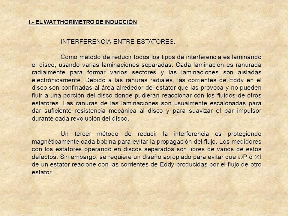 INTERFERENCIA ENTRE ESTATORES.