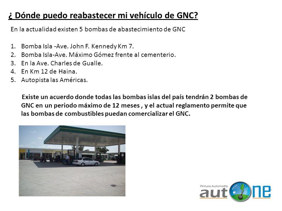 ¿ Dónde puedo reabastecer mi vehículo de GNC