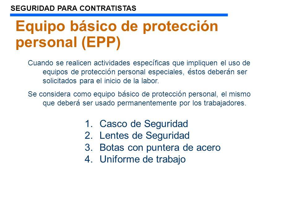 Equipo básico de protección personal (EPP)