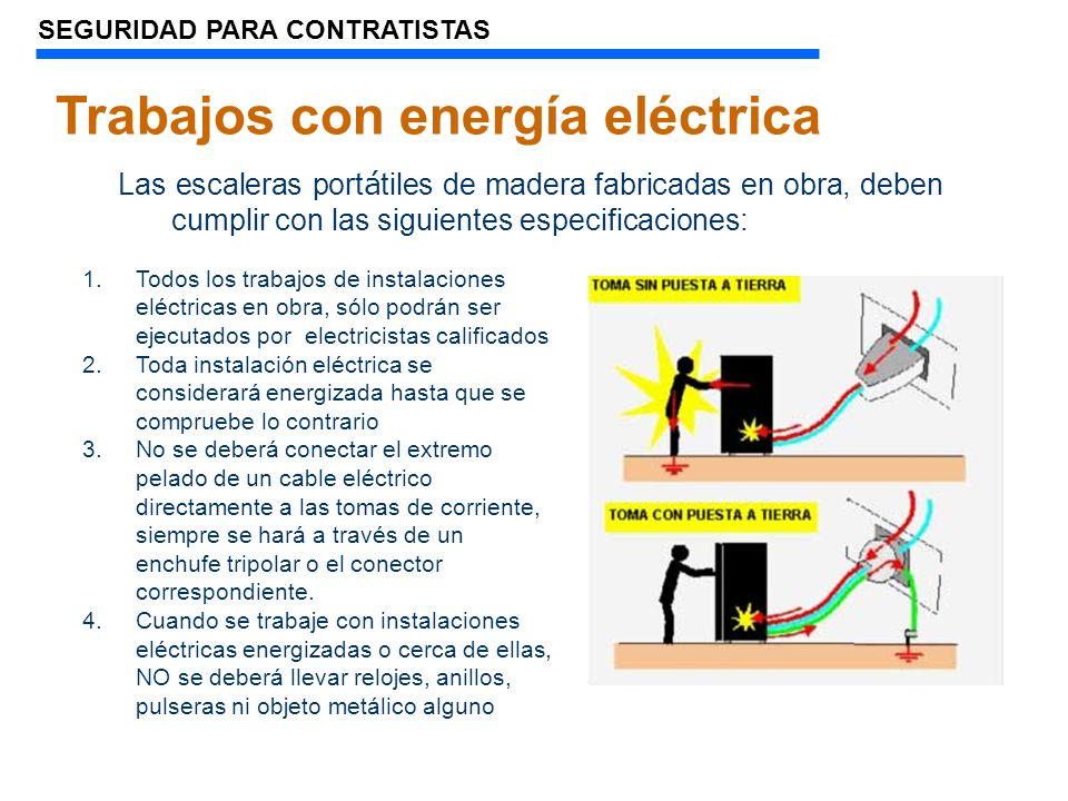 Trabajos con energía eléctrica