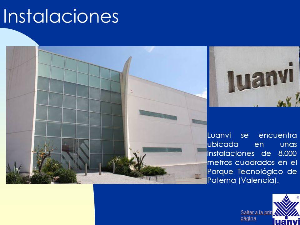 Instalaciones Luanvi se encuentra ubicada en unas instalaciones de 8.000 metros cuadrados en el Parque Tecnológico de Paterna (Valencia).
