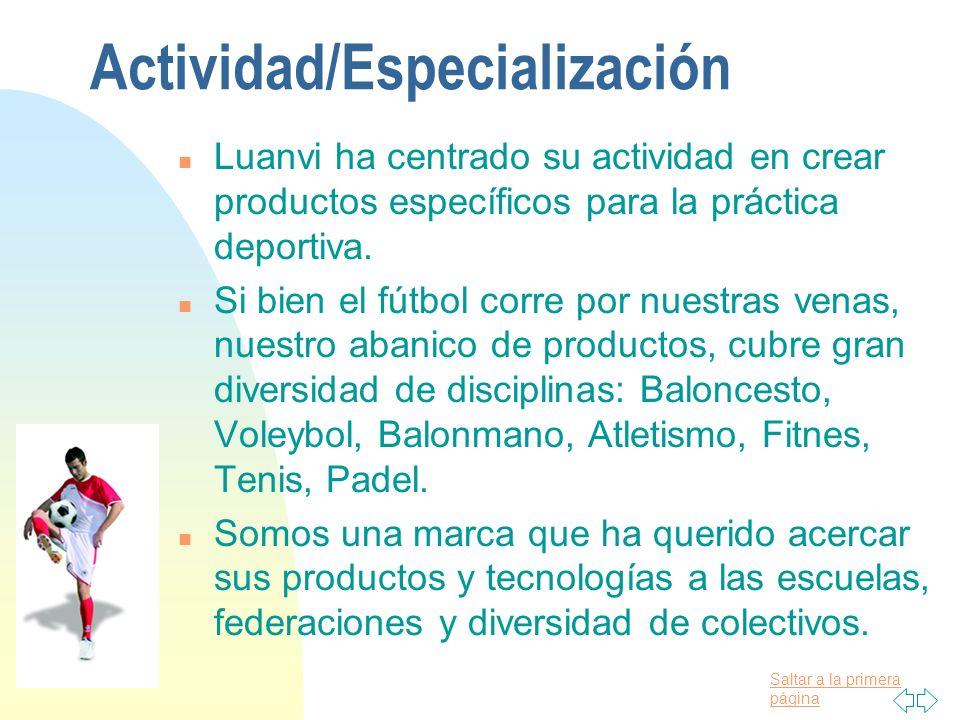 Actividad/Especialización