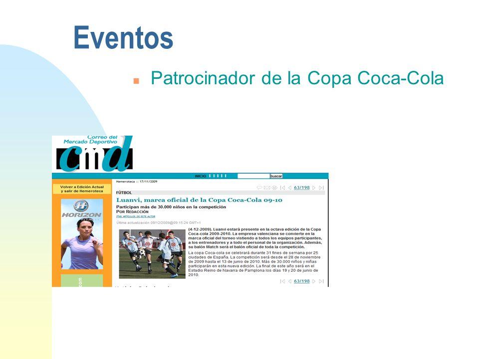 Eventos Patrocinador de la Copa Coca-Cola