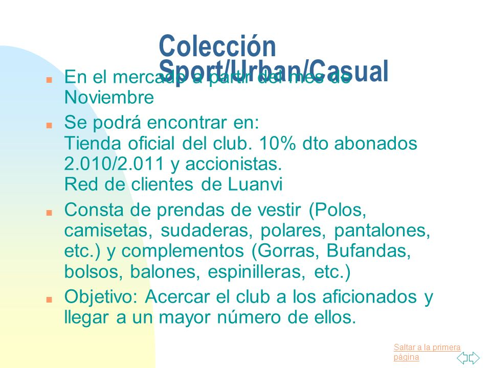 Colección Sport/Urban/Casual