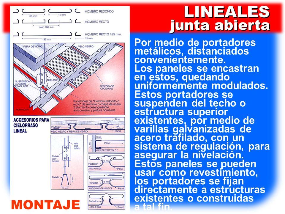 LINEALES junta abierta MONTAJE