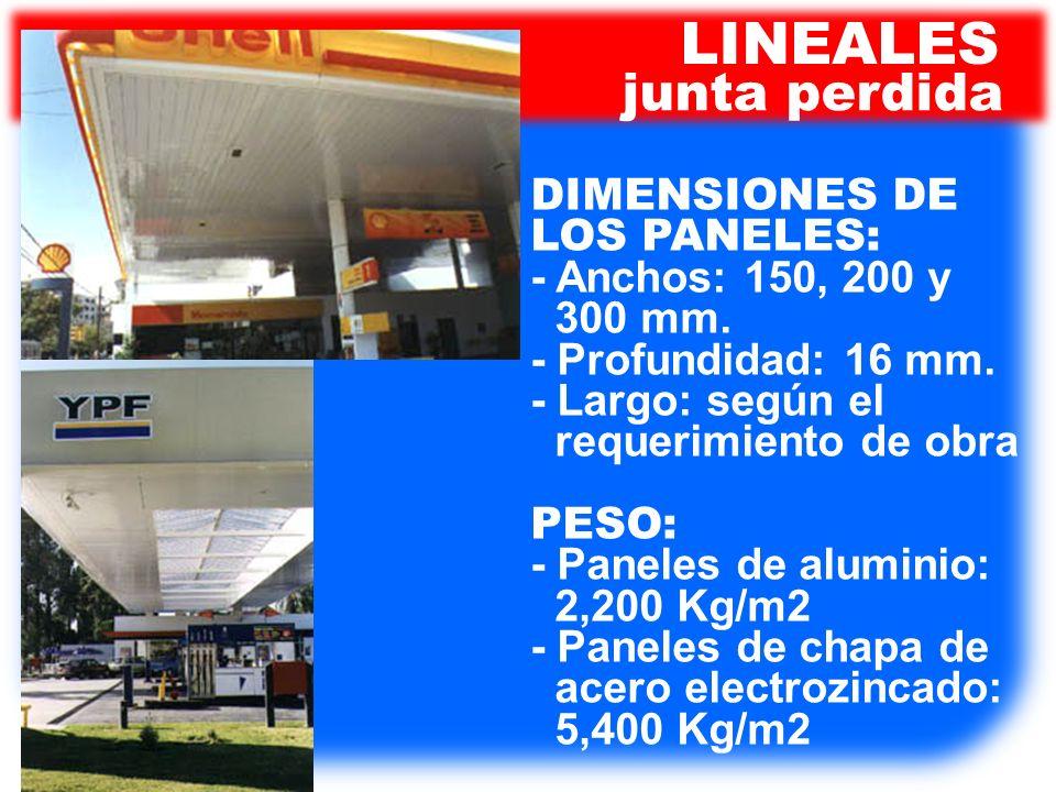 LINEALES junta perdida DIMENSIONES DE