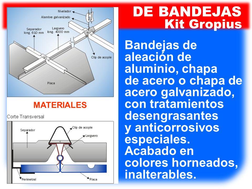 DE BANDEJAS Kit Gropius Bandejas de aleación de aluminio, chapa