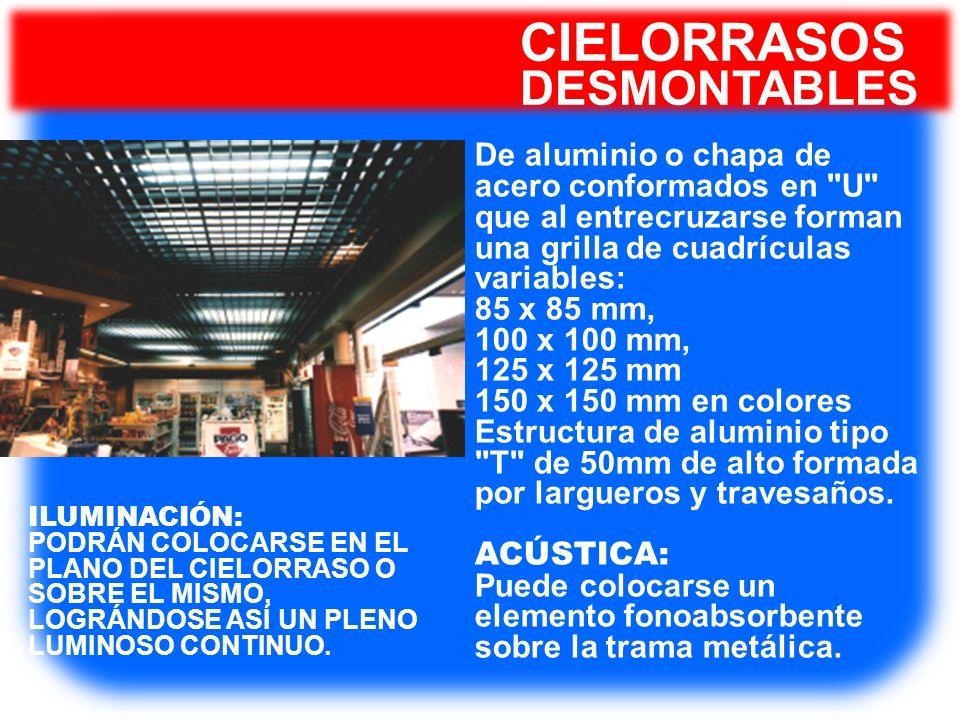 CIELORRASOS DESMONTABLES