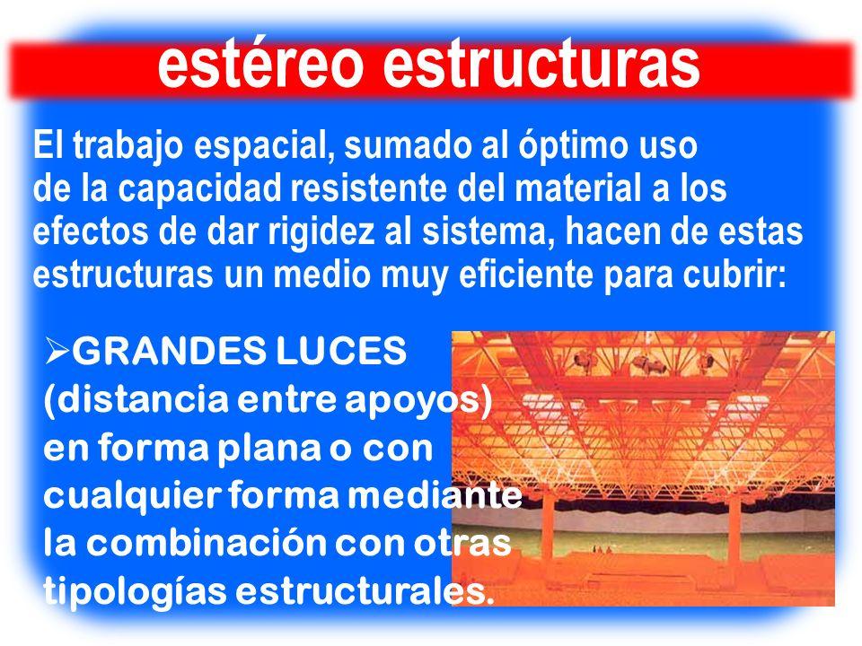 estéreo estructuras El trabajo espacial, sumado al óptimo uso
