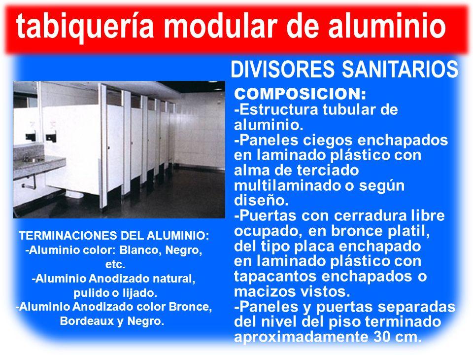 tabiquería modular de aluminio