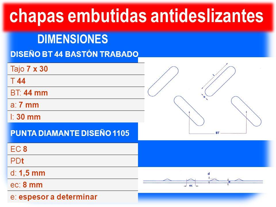 chapas embutidas antideslizantes