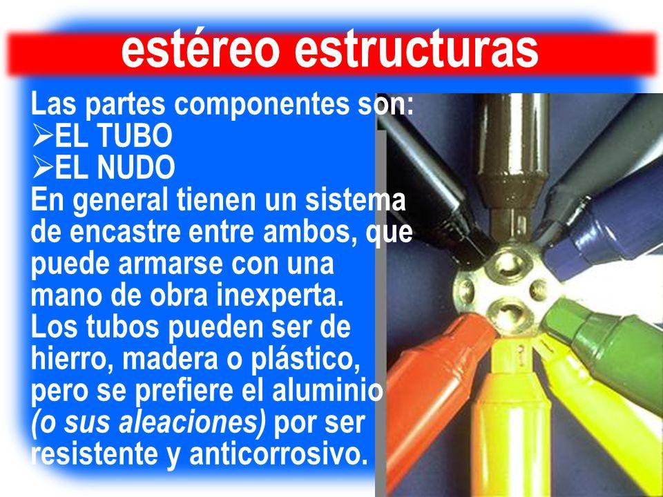 estéreo estructuras Las partes componentes son: EL TUBO EL NUDO