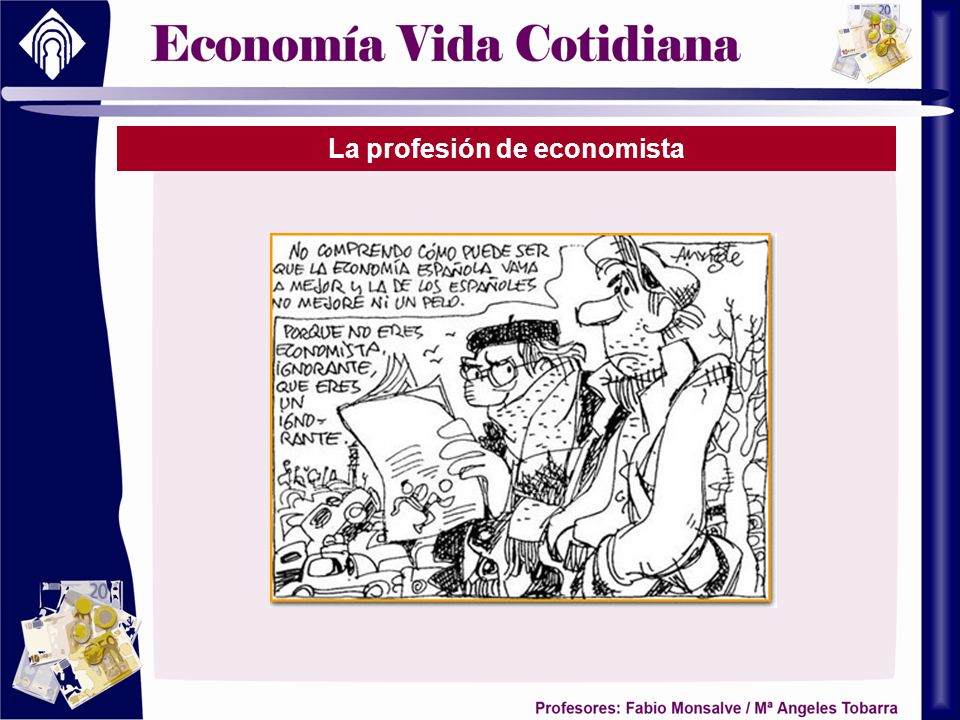 La profesión de economista