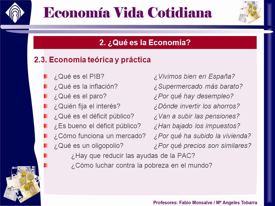 2.3. Economía teórica y práctica