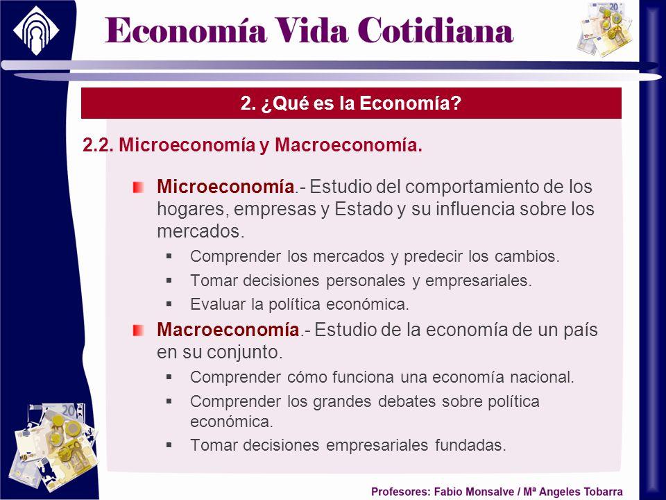 2.2. Microeconomía y Macroeconomía.
