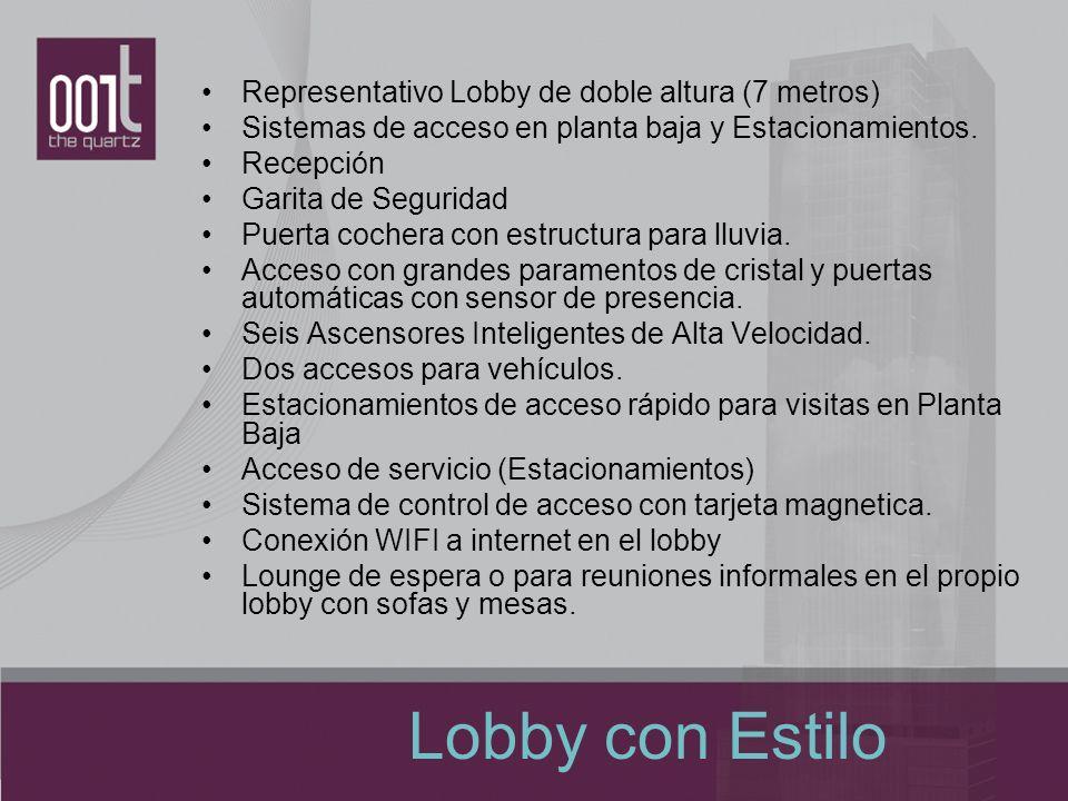 Lobby con Estilo Representativo Lobby de doble altura (7 metros)