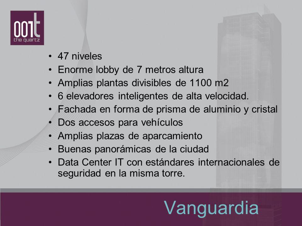 Vanguardia 47 niveles Enorme lobby de 7 metros altura