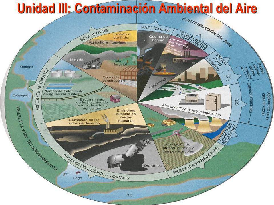 Unidad III: Contaminación Ambiental del Aire