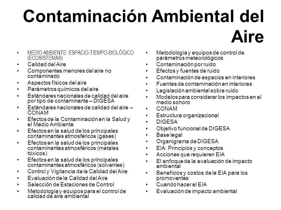 Contaminación Ambiental del Aire