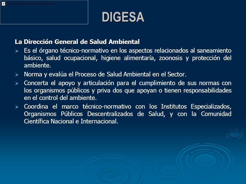 DIGESA La Dirección General de Salud Ambiental