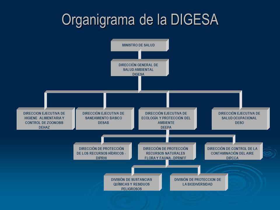 Organigrama de la DIGESA