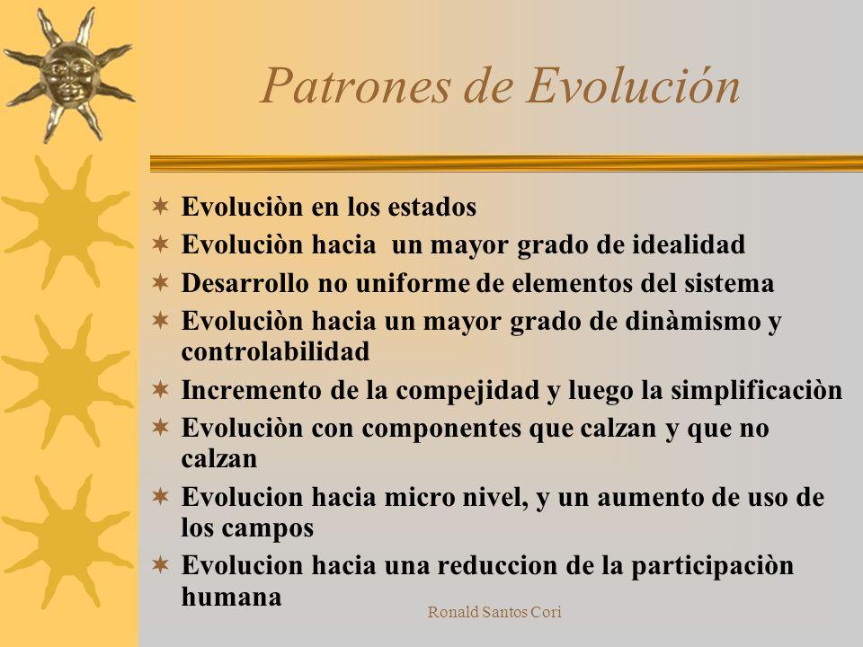 Patrones de Evolución Evoluciòn en los estados