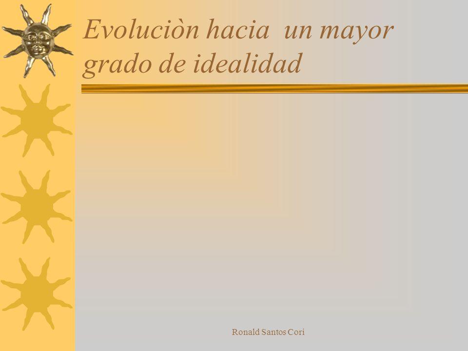 Evoluciòn hacia un mayor grado de idealidad
