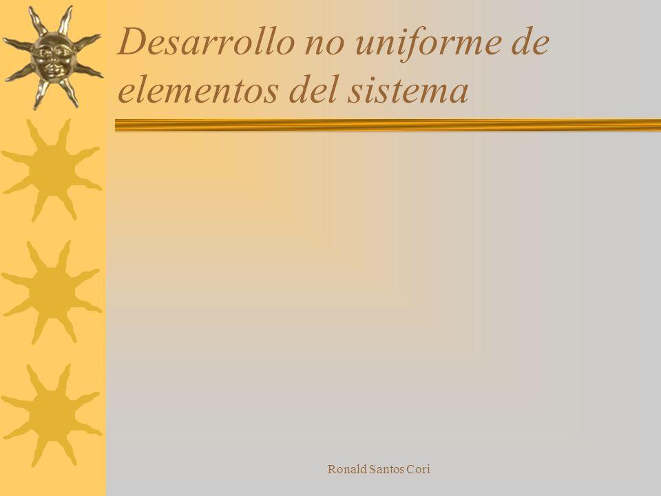 Desarrollo no uniforme de elementos del sistema