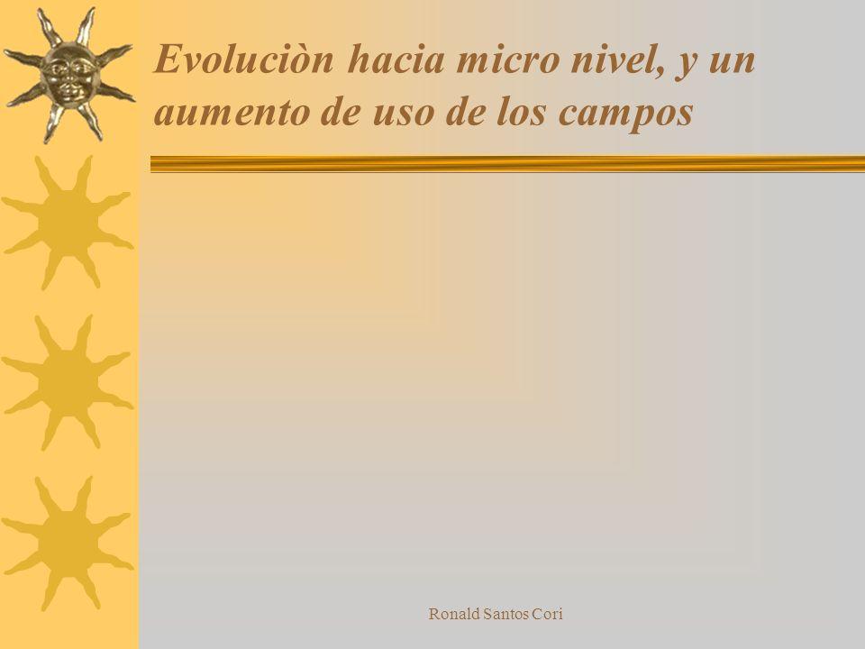 Evoluciòn hacia micro nivel, y un aumento de uso de los campos