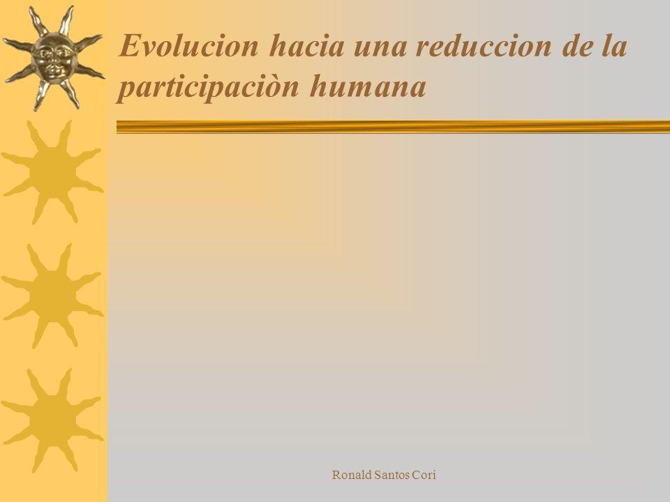Evolucion hacia una reduccion de la participaciòn humana