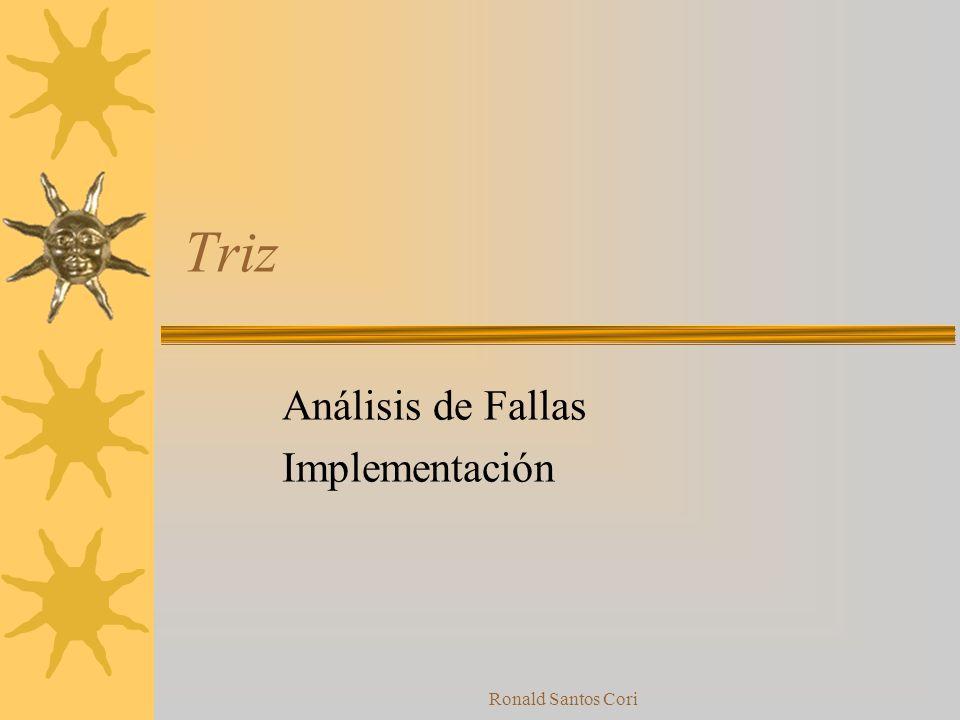 Análisis de Fallas Implementación