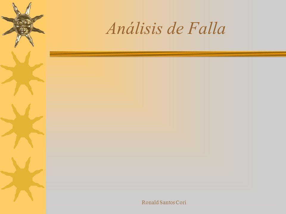 Análisis de Falla Ronald Santos Cori