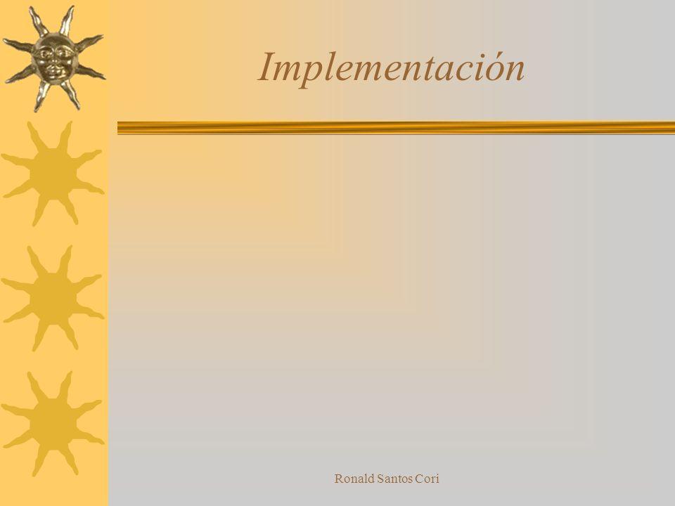 Implementación Ronald Santos Cori