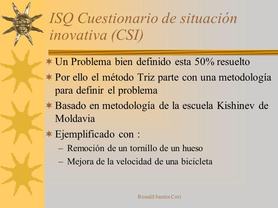 ISQ Cuestionario de situación inovativa (CSI)