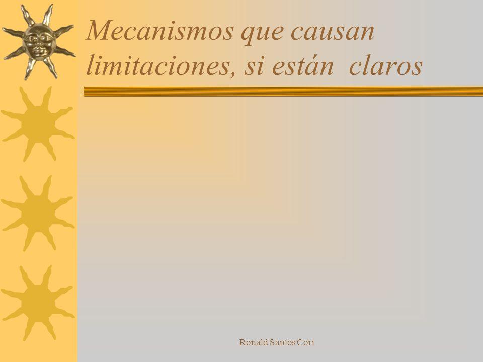 Mecanismos que causan limitaciones, si están claros